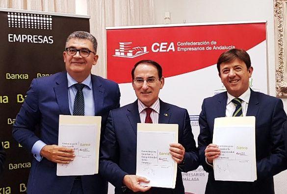 BANKIA Y CEA RENUEVAN SU CONVENIO DE COLABORACIÓN PARA IMPULSAR LA COMPETITIVIDAD DE LA EMPRESA ANDALUZA