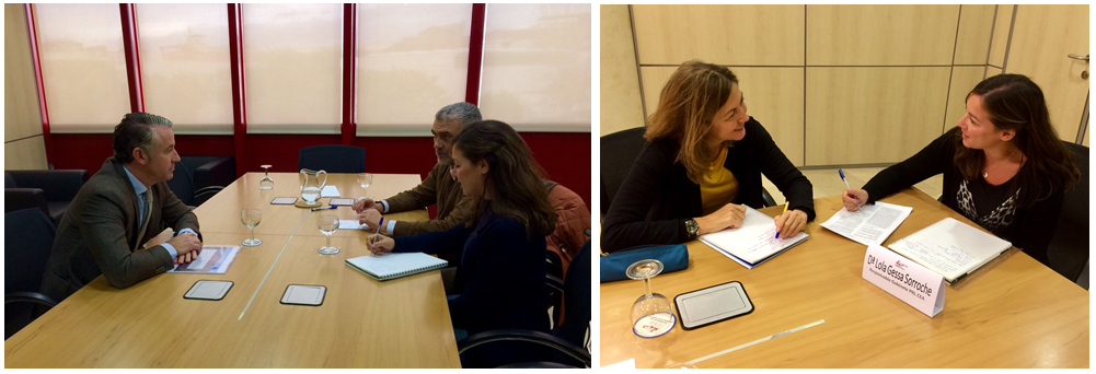 Instantánea de algunas de las reuniones mantenidas por el Gabinete de PRL durante 2017, en estas ocasiones con Asepeyo y SPM Prevención Andalucía