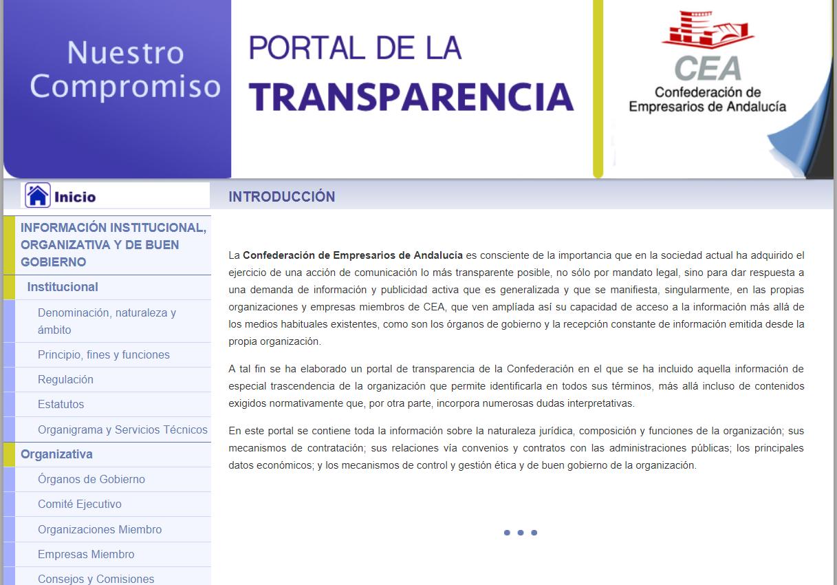 Portal de Transparencia de CEA