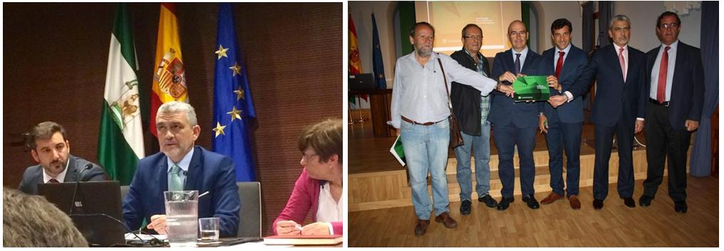 Instantáneas de la presentación de la II Encuesta de Gestión Preventiva en las Empresas Andaluzas en Sevilla y Córdoba, los días 1 de febrero y 9 de mayo de 2017
