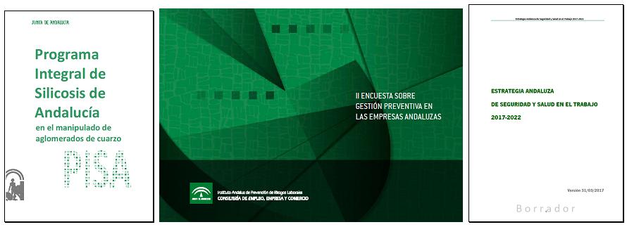 En imagen, algunos de los documentos informados que surgen del marco de la participación institucional en seguridad y salud en el trabajo